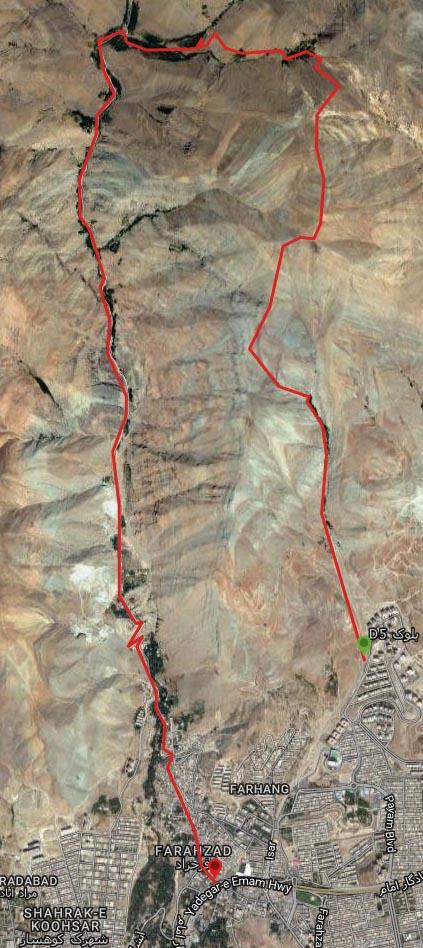 مسیر قله ی  چین کلاغ از سعادت آباد، گروه کوهنوردی پرسون