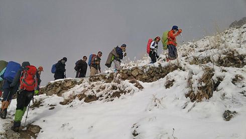 گروه کوهنوردی پرسون - مسیر گردنه پلنگ چال