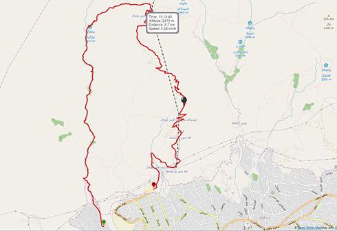مسیر کوهنوردی درکه، پلنگ چال، ایستگاه 5 تله کابین توچال