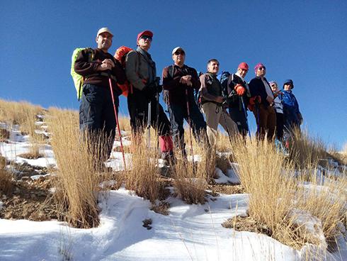 گروه کوهنوردی پرسون - مسیر برف زده ی قله ی واریش