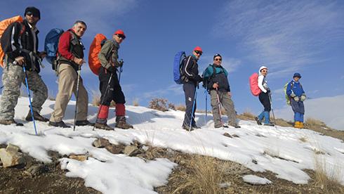 گروه کوهنوردی پرسون - مسیر قله بند عیش