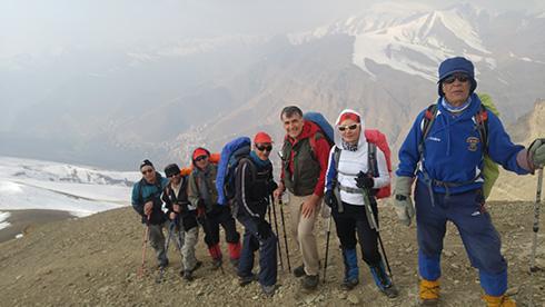 گروه کوهنوردی پرسون - دامنه پرشیب قله بند عیش