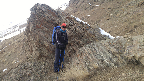 گروه کوهنوردی پرسون - برگشت از قله بند عیش - ابتدای دره حصارک