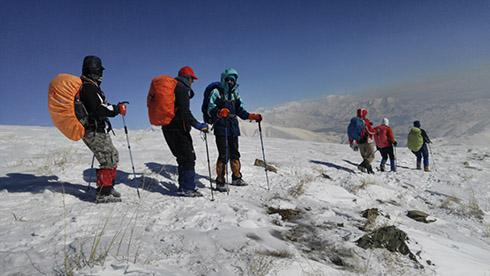 گروه کوهنوردی پرسون - بازگشت از قله دارآباد