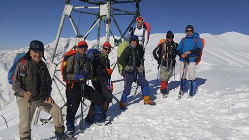 گروه کوهنوردی پرسون - خط الراس دارآباد - برجک دیده بانی