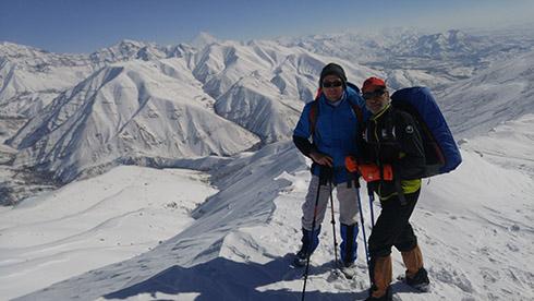 گروه کوهنوردی پرسون - خط الراس دارآباد - من و آقای غرات