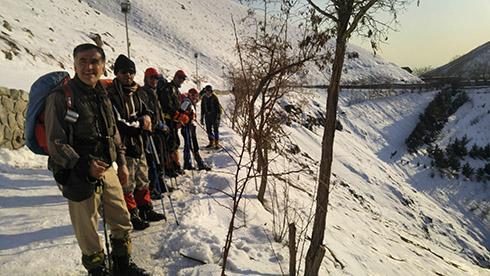 گروه کوهنوردی پرسون - بازگشت از قله - مسیر پاکوب