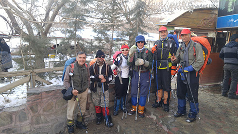 گروه کوهنوردی پرسون - بازگشت از قله - کافه فرامرز