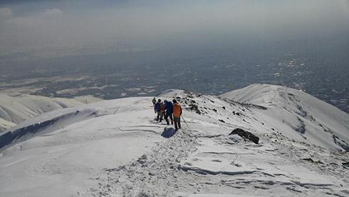 گروه کوهنوردی پرسون - مسیر بازگشت از قله دارآباد
