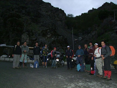 گروه کوهنوردی پرسون - استارت برنامه دربند توچال